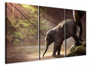 Ljuddämpande tavla - The elephant baby - SilentSwede
