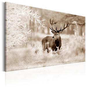 Ljuddämpande & ljudabsorberande tavla - Deer in Sepia - SilentSwede
