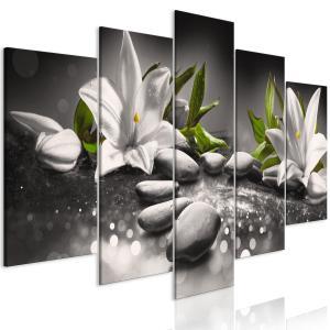 Ljuddämpande tavla - Lilies and Stones Grey - SilentSwede