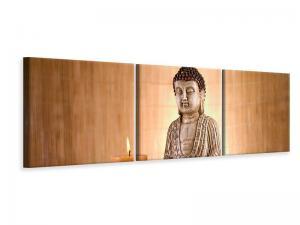 Ljudabsorberande 3 delad tavla-Buddha In Meditation - SilentSwede