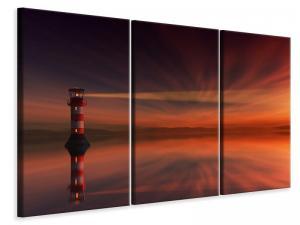 Ljuddämpande tavla - Red sky at the lighthouse - SilentSwede
