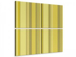 Ljudabsorberande 4 delad tavla - Stripes - SilentSwede