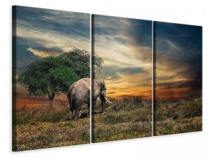 Ljuddämpande tavla - The elephant in the sunset - SilentSwede