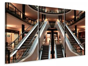 Ljuddämpande tavla - Escalator in shopping mall - SilentSwede