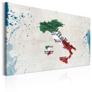 Ljuddämpande & ljudabsorberande tavla - Map: Italy - SilentSwede