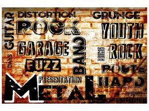 Ljudabsorberande tavla - Rock In Grunge Style - SilentSwede