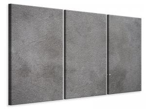 Ljudabsorberande 3 delad tavla - Concrete In Dark Grey - SilentSwede