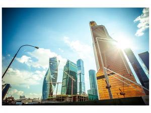 Ljudabsorberande tavla - Skyscrapers Moscow - SilentSwede