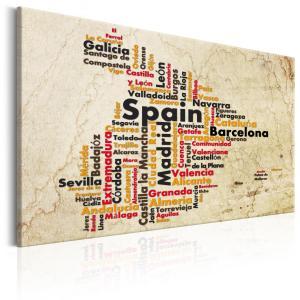 Ljuddämpande & ljudabsorberande tavla - Spanish Cities (ES) - SilentSwede