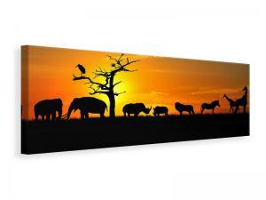 Ljuddämpande tavla - Safari Animals At Sunset - SilentSwede