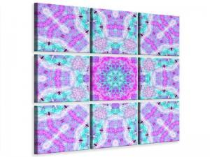Ljudabsorberande 9 delad tavla - Lilac - SilentSwede