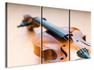 Ljudabsorberande 3 delad tavla - Violin - SilentSwede