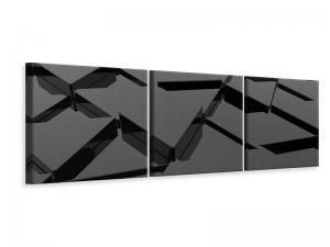 Ljudabsorberande 3 delad tavla-3D Triangular Surfaces - SilentSwede