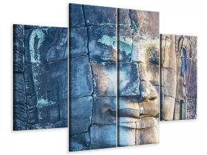 Ljudabsorberande 4 delad tavla-Buddha in Rock - SilentSwede