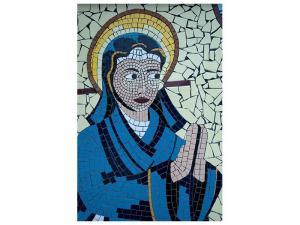 Ljudabsorberande tavla - Virgin Mary Mosaic - SilentSwede