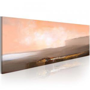 Ljuddämpande handmålad tavla - Mellan rosa och grått - SilentSwede