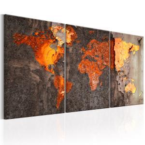 Ljuddämpande tavla - World Map: Rusty World - SilentSwede