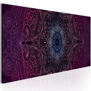 Ljuddämpande & ljudabsorberande tavla - Purple Mandala - SilentSwede