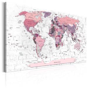 Ljuddämpande & ljudabsorberande tavla - Pink Frontiers - SilentSwede
