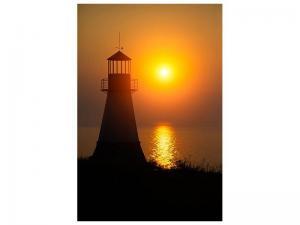 Ljudabsorberande tavla - A Lighthouse At Sunset - SilentSwede