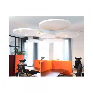 ljudabsorbent för tak, sound off cirkel, rå, oklädd, utan lampa, med lampa