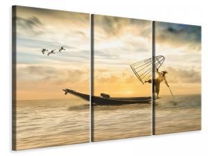 Ljuddämpande tavla - Artful fisherman - SilentSwede