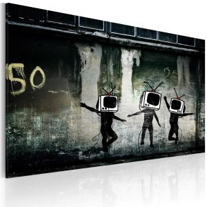 Ljuddämpande tavla - TV heads dance - SilentSwede