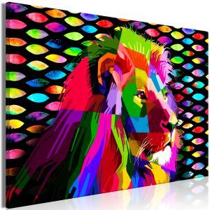 Ljuddämpande & ljudabsorberande tavla - Rainbow Lion - SilentSwede