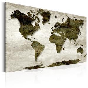 Ljuddämpande tavla - World Map: Green Planet - SilentSwede