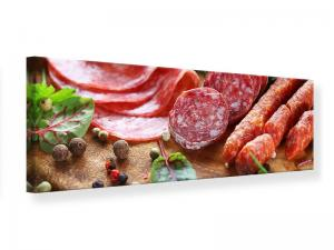 Ljudabsorberande panorama tavla - Sausage Buffet - SilentSwede