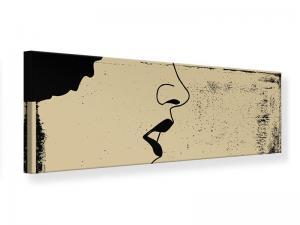 Ljudabsorberande panorama tavla - Woman Portrait In Grunge Style - SilentSwede