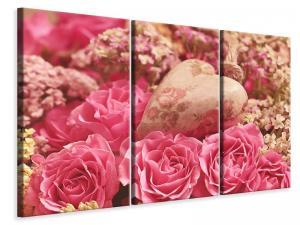 Ljuddämpande tavla - Romantic roses with heart - SilentSwede