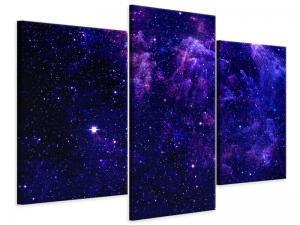 Ljudabsorberande modern 3 delad tavla - A Sky Full Stars - SilentSwede