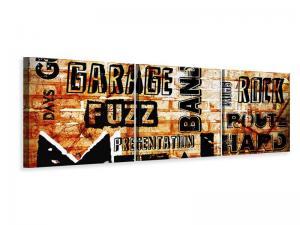 Ljudabsorberande panorama 3 delad tavla - Rock In Grunge Style - SilentSwede