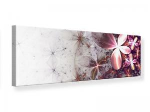 Ljudabsorberande panorama tavla - Abstract Floral - SilentSwede