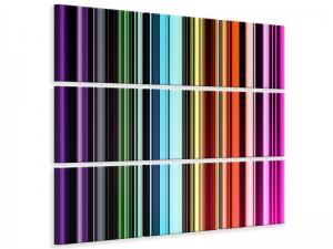 Ljudabsorberande 9 delad tavla - Colorful Stripes - SilentSwede