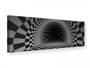 Ljudabsorberande panorama tavla - Abstract Chessboard - SilentSwede