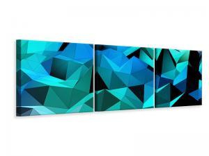 Ljudabsorberande 3 delad tavla-3D Diamonds - SilentSwede