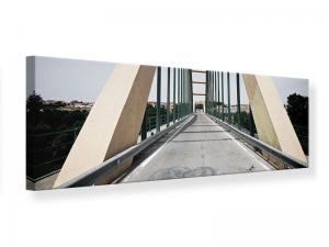 Ljudabsorberande panorama tavla - Imposing Suspension Bridge - SilentSwede