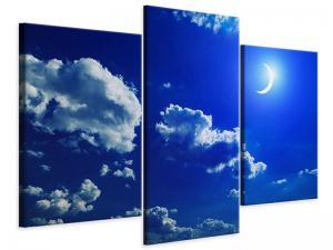 Ljudabsorberande modern 3 delad tavla - The Moon - SilentSwede