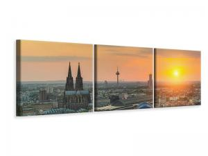 Ljuddämpande tavla - Skyline Cologne At Sunset - SilentSwede