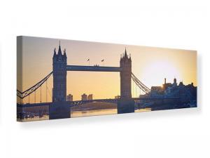 Ljudabsorberande panorama tavla - Tower Bridge At Sunset - SilentSwede