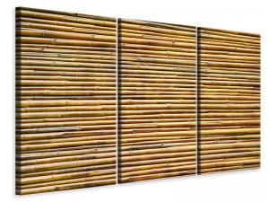 Ljuddämpande tavla - Horizontal Bamboo Wall - SilentSwede