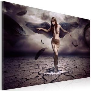 Ljuddämpande tavla - Black angel - SilentSwede