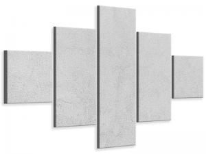 Ljudabsorberande 5 delad tavla - Concrete In Light Gray - SilentSwede