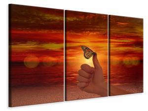 Ljuddämpande tavla - The butterfly in the evening light - SilentSwede