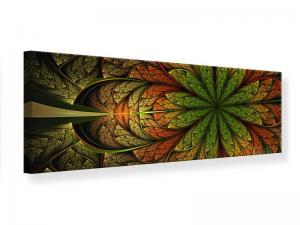 Ljudabsorberande panorama tavla - Abstract Floral Pattern - SilentSwede