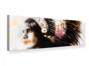 Ljudabsorberande panorama tavla - Artful Indian Portrait - SilentSwede