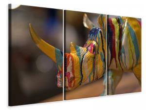 Ljuddämpande tavla - Colorful rino - SilentSwede