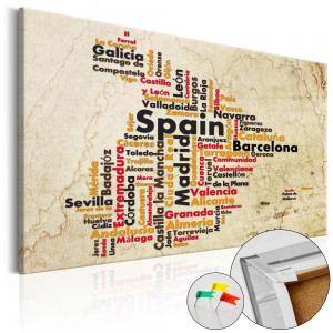 Ljuddämpande anslagstavla - Spanish Cities (ES) - SilentSwede